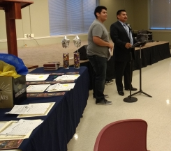 Our special speaker for the day Magno Roblero Pastor of Living Waters Baptist Church - Translator was David Trejo